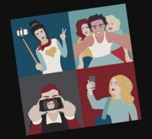 Selfie Pop art Patchwork One Piece - Long Sleeve