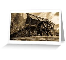 The Ancient Watermill Greeting Card