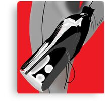 Black heels grey stockings Canvas Print