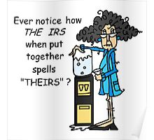 Humorous Tax IRS Sarcasm Poster