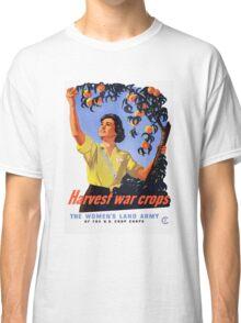 Harvesting War Crops Picking Peaches Classic T-Shirt