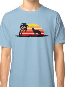 German Shepherd on Sunset Beach Classic T-Shirt