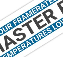 Large Glorious PC Master Race Banner Rotated for Max Size Large High Resolution High Quality Sticker