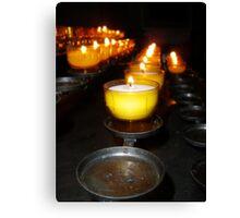 Church Candles Canvas Print