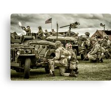 40's WWII Re-enactment Canvas Print