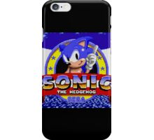 sonic sega logo iPhone Case/Skin