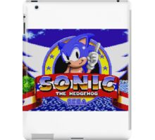 sonic sega logo iPad Case/Skin