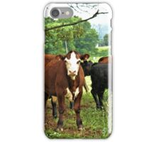 """""""...Goin'a do what, Cowboy? Best Watch It! You're in Cowtown, Now""""... prints and products iPhone Case/Skin"""