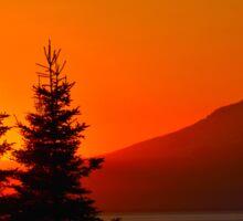 Orange Sky - Mt. Redoubt Sticker