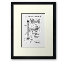 1955 Mccarty Gibson Guitar Patent Framed Print