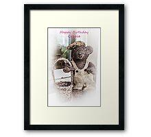 Happy Birthday Gracie Framed Print