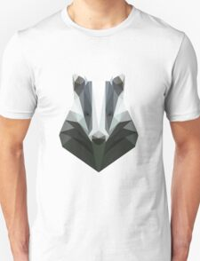 Low Poly Honey Badger Unisex T-Shirt
