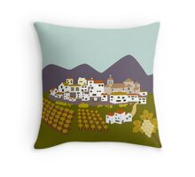 Charming Village Throw Pillow