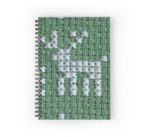 deer embroidery cross-stitch pattern  Spiral Notebook