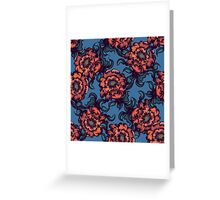 Vintage floral pattern. Greeting Card