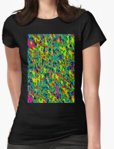 electric neon2 Womens Fitted T-Shirt