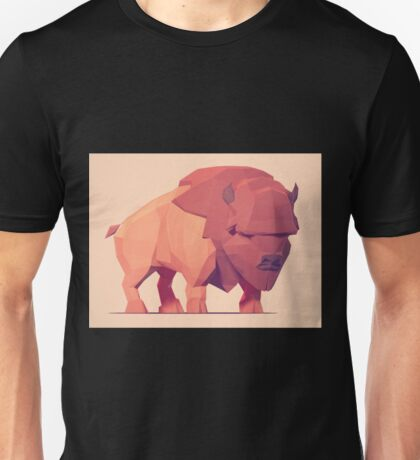 Low Poly Buffalo Unisex T-Shirt