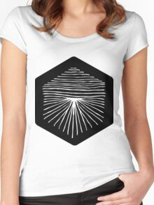 Abstract ink hand drawn star Women's Fitted Scoop T-Shirt