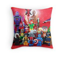 Lego Super Heroes Throw Pillow