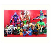 Lego Super Heroes Art Print