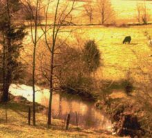 """""""A Creek Runs Through It""""... prints and products Sticker"""