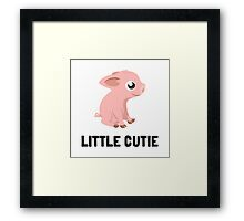 Little Cutie Pig Framed Print