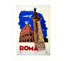Vintage Roma Rome Italian travel Art Print