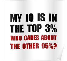 My IQ Who Cares Poster