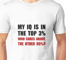 My IQ Who Cares Unisex T-Shirt