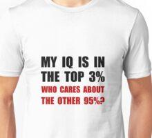 My IQ Who Cares Unisex T-Shirt