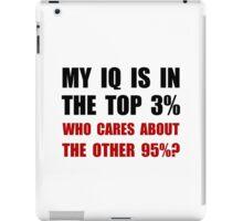 My IQ Who Cares iPad Case/Skin