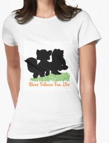 Best Friends Fur Life - Todd and Copper Womens Fitted T-Shirt