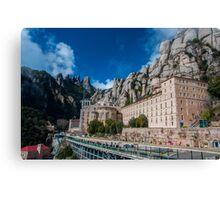 Montserrat monastery Canvas Print