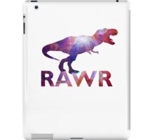 Space T-Rex Dinosaur, Blue and Red iPad Case/Skin