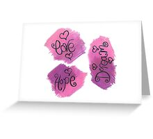 motivational words - oil pastel Greeting Card