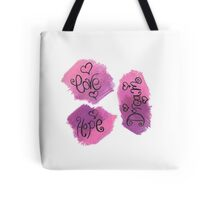 motivational words - oil pastel Tote Bag