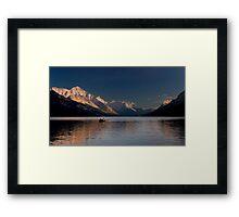Sunset  Over Waterton Lakes National Park Framed Print