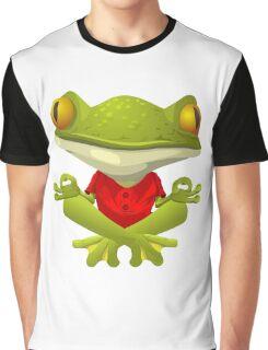 Yoga Frog Graphic T-Shirt