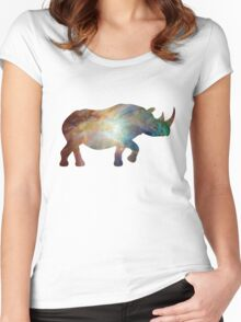 Happy Space Rhino Women's Fitted Scoop T-Shirt
