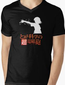 Misaka Mikoto Mens V-Neck T-Shirt