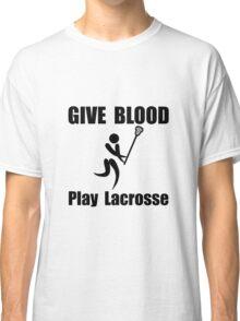 Lacrosse Give Blood Classic T-Shirt