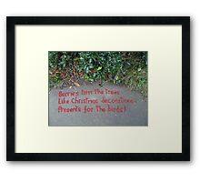 Holly Berry Haiku Framed Print