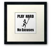 Lacrosse Play Hard Framed Print