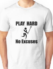 Lacrosse Play Hard Unisex T-Shirt