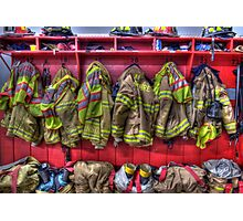 Fireman Gear Photographic Print