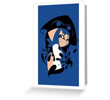 Blue Splatoon Inkling Smile Greeting Card
