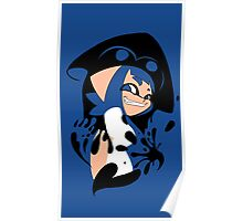 Blue Splatoon Inkling Smile Poster
