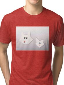 Two Cute Rabbits Tri-blend T-Shirt