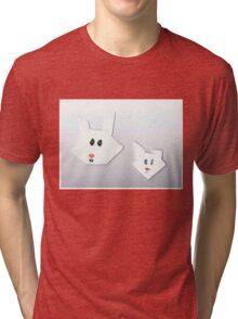 Two Cute Rabbits Tri-blend T-Shirt