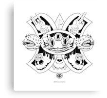 Gato Cheshire del Futuro Ollin Canvas Print